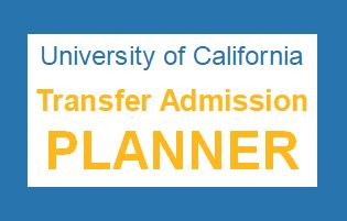 UC Transfer Admissions Planner
